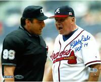 "Bobby Cox Atlanta Braves Signed 8"" x 10"" Yelling Photo with HOF Insc - Fanatics"