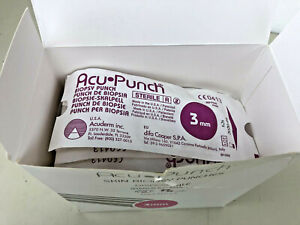 Acuderm Pico-punch Disposable Biopsy punch 3mm exp. 2020/4 Box of 50 near full