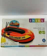 INTEX EXPLORER 200 INFLATABLE 2 PERSON BOAT / RIVER RAFT WITH 2 OARS AND 1 PUMP