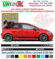 Adesivi Fiat Grande Punto EVO fasce auto adesive Punto evo strisce + OMAGGIO