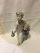 LLADRO 4874 Boy in Night Shirt Missing candle flame, head broke off! No Box!
