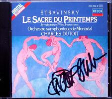 Charles DUTOIT Signed STRAVINSKY Le Sacre du Printemps Symphony of Winds CD 1985