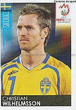 N°400 VIGNETTE PANINI WILHELMSSON SWEDEN SVERIGE EURO 2008 STICKER