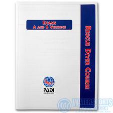 PADI RESCUE DIVER FINAL EXAM BOOKLET