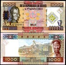 GUINEA 1000  FRANCS 2010 COMM. P NEW UNC