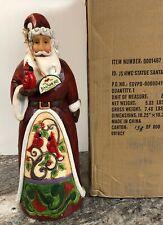 Jim Shore Santa Holding Cardinal Red Bird Christmas Statue Door Greeter 19 3/4�