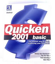 Intuit Quicken 2001 Basic for Windows 95/98/NT/2000 - PC CDROM - Sealed Box