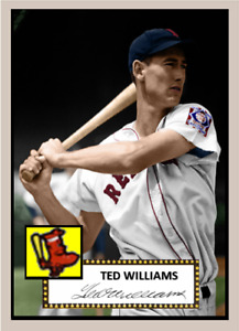 TED WILLIAMS 1952 CUSTOM ART CARD ### BUY 5 GET 1 FREE ### or 30% OFF 12 OR MORE