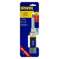 Irwin 1948774 Ratcheting Screwdriver 8-in-1 Phillips Square Slot Torx Nut Driver
