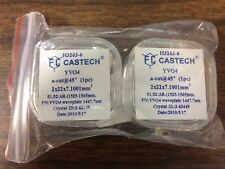 Lot of 2 Castech Waveplate YVO4 a-cut 45*  2 x 22 x 7.1001 mm3  AR (1525-1565)nm