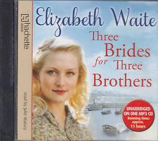 Elizabeth Waite Three Brides For Three Brothers MP3 CD Audio Book Unabridged