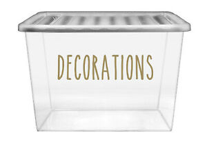 Decorations - Vinyl Sticker Decal Labels for Home, Attic Storage, Organisation