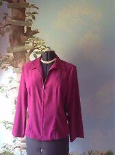 Briggs Long Sleeve Pink Velvety Fabric Zip Front Suit Jacket Blazer Size 8