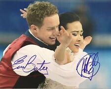 Evan Bates & Madison Chock Figure Skating USA Olympics Signed 8x10 Photo COA E1