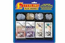 Kids Play Pretend Money Role Shops Cash £ Pound Notes Coins Toy Childrens fake