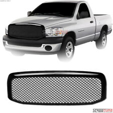 Gloss Blk Mesh Front Hood Bumper Grill Grille Replacement Kit 06-08/09 Dodge Ram