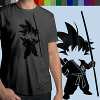 Anime Young Son Goku Kakarot Mens 100% Cotton Unisex Crew Neck T-Shirt