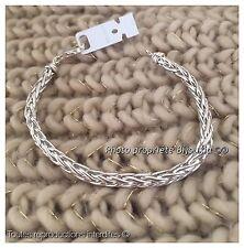 Bracelet Maille Palmier En Argent Massif 925/1000 Bijoux Femme Neuf