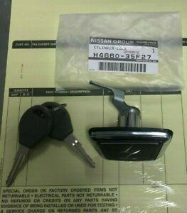 JDM NISSAN OEM Silvia Rear Trunk Lock Emblem Nissan S13 240SX Silvia H4660-35F27
