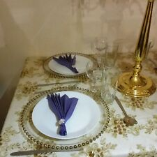 Glass Beaded Charger Plates In Gold Or Silver FOR EVENT DECOR HIRE ONLY!