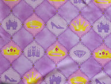 Princess Fabric - Tiaras, Castles, Diamonds, Glass Slippers by Michael Miller
