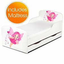 FAIRY DUST TODDLER JUNIOR BED WITH UNDERBED STORAGE + FOAM MATTRESS