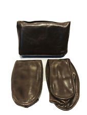 Vintage Brown Leather Foldable Men's House Slippers