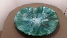 Blue Mountain Pottery Leaf Serving Tray 14.5 diam