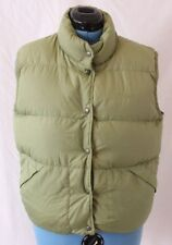 L.L. Bean Goose Down Insulated Quilted Winter Snaps Puffer Vest Women's M