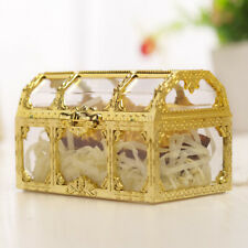 3x Plastic Hollow Treasure Box Wedding Birthday Candy Gift Box Party Favor Decor