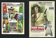 2 x FILMS avec ... (EDDIE CONSTANTINE) 2 PROGRAMMES ESPAGNOLS D'ORIGINE