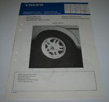 Einbauanleitung Volvo 340 360 Zierleiste für Radkasten Trim Moulding 02/1984!