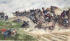 E) Gemälde Soldat Krieg Kampf Schlacht Schlachtfeld Zügel Schüler H.Sattler 1919