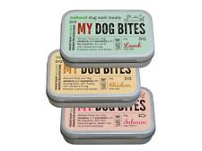 TRAINING tin Walkies Treats Salmon, Chicken & Lamb 3x tins My Dog Bites 50g Each