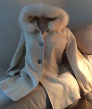 Sachi Collection Cashmere Wool Blend 3/4 Length Pea Coat Women's Size 6 EUC