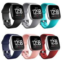 6x Fitbit Versa Armband Ersatz Silikon Band Uhrenarmband Fitness Tracker