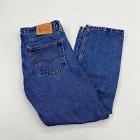Levi's 505 Denim Jeans Mens 34X30 Blue Straight Leg Regula Fit Medium Washed
