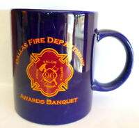 Dallas Fire Department Mug DFD Awards Banquet Ceramic Coffee Mug 1996 Vintage