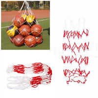Football Basketball Storage Bag Draw Cord Mesh Sack Ball Carry Net For 10 balls