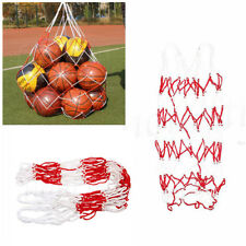 2pcs 10 Balls Carry Mesh Net Bag-holds Sport Basketball Football Storage Tool