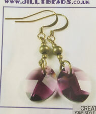 Jilly Bead Autumn Glory: Amethyst Earring Jewelry Making Kit Purple