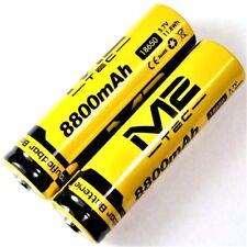 2 x m2 tec de iones de litio Batería 3,7 V 8800 mah 11,8 WH tipo 18650 Li-ion 65 x 18mm