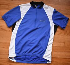 CANARI Cycling Jersey Mens Small Blue White Bicycle