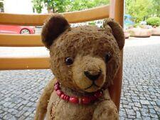 Alter Teddybär Puckel Strohgefüllt, Scheibengelenke Glasaugen !!!!!!!!