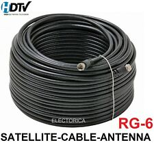 50 100 200 500 FT RG-6 SATELLITE COAXIAL CABLE HD ANTENNA RG6 DISH WIRE COAX TV