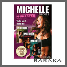 Michelle Bridges Project 3 Pack DVD Box Set Project Extreme Ripped & Shape-up R4