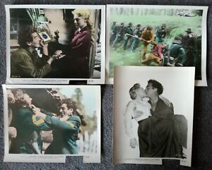 LOT OF 4 ORIGINAL LOBBY CARDS THE LAST FRONTIER Victor Mature 1955 Western