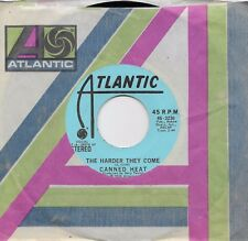 CANNED HEAT  The Harder They Come  rare promo 45 from 1974
