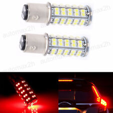 2x Red 1157 BAY15D 68-SMD 3528 Turn Signal Tail Brake Stop LED Light Bulbs Lamp