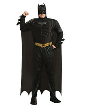 "DARK KNIGHT RISES BATMAN Muscoli Costume, PLUS, chst 46-52 "", WST 42-46"", gamba 33 """